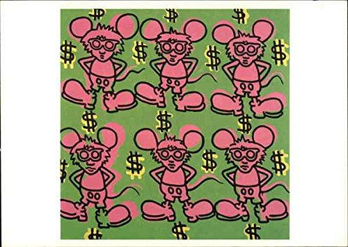 (Keith Haring American 1958-1990 Untitled 1985, Acrylic on Canvas Original Vintage Postcard)