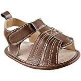 Luvable Friends Boy's Casual Sandal T Strap Sandal