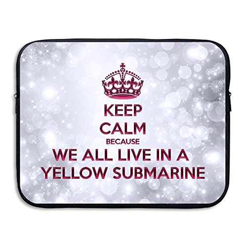 HYRONE Fashion Yellow Submarine Case For Tablet 15 Inch