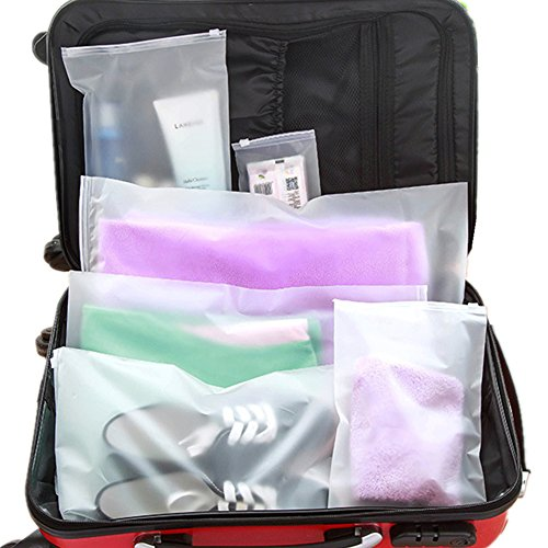 24x Travel Packing Bags Set - Lightweight Hygiene Cosmetic and Carry-on Waterproof Garments Ziplock Clothes Socks ShoesStorage Bag -