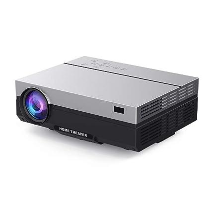 Amazon.com: Proyector 4K, proyector de cine en casa HD USB ...