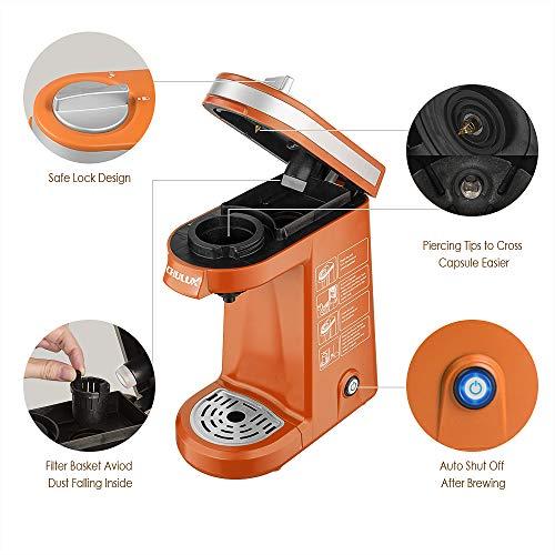 CHULUX Coffee Maker Single-Serve Coffee Machine for Capsule,Orange