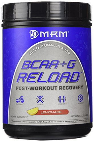 MRM - BCAA+G Reload, BCAA+G Powder, Ultimate Muscle Post-Workout Recovery Formula, Supports Muscle Size & Strength, Recovery, Reduces Fatigue & Muscle Sorenessa (Lemonade, 29.6 Ounces)