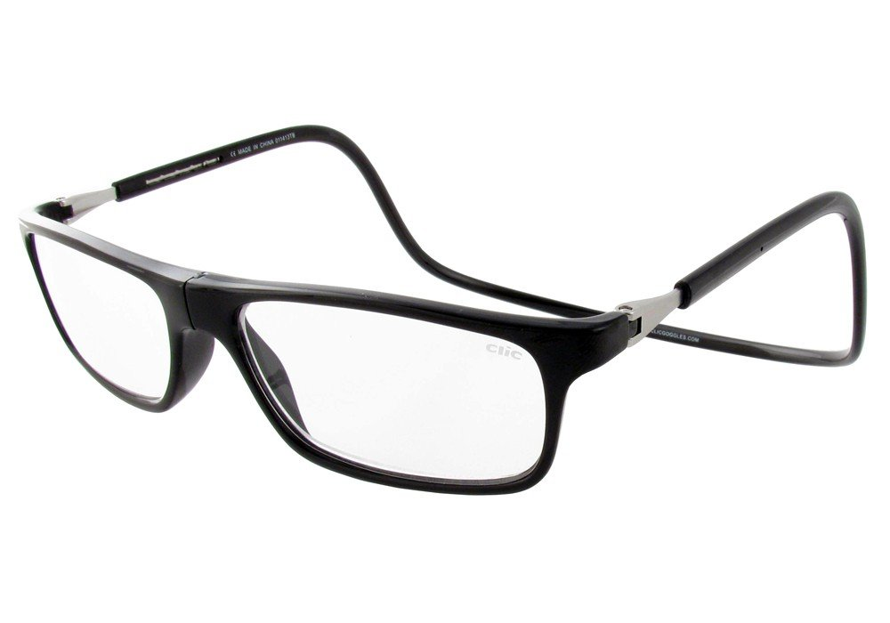 Clic Magnetic Executive Reading Glasses in Black ; 2.50
