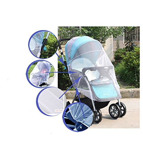 ERTIANANG 1Pcs Infants Baby Stroller Mosquito Net Buggy Pram Protector Pushchair Fly Midge Insect Bug Cover by ERTIANANG