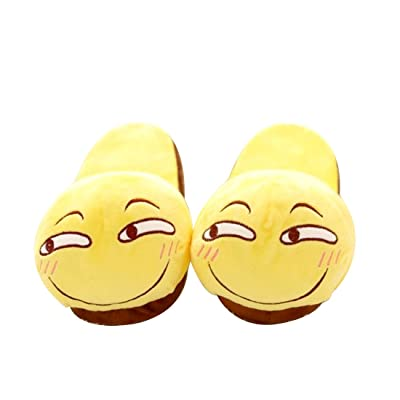 Caramella Bubble Shy Emotion Emoji Face Slip On Memory Foam Comfortable Home Slippers