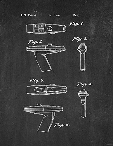 Frame a Patent Star Trek Phaser Patent Print Art Poster C...
