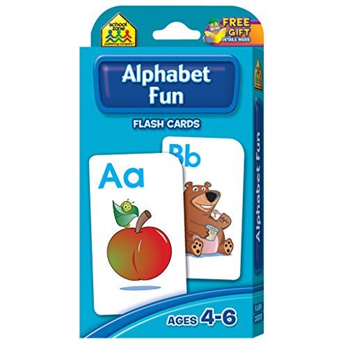 School Zone - Alphabet Fun Flash Cards - Ages 4 to 6, Preschool, Kindergarten, ABCs, Uppercase and Lowercase Letters, and Spelling -