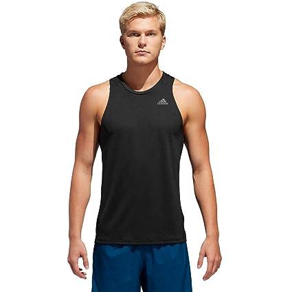 Adidas Own The Run SNG Camiseta de Tirantes, Hombre, Negro, 2XL