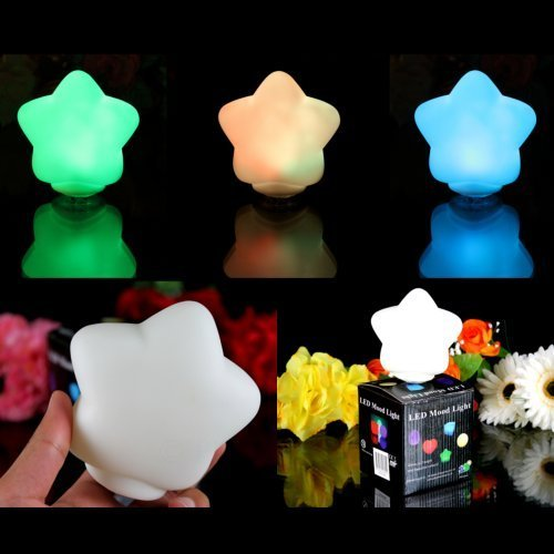 PK Green Set of 3 LED Star Mood Lamps - Colour Changing Sensory Lights by
