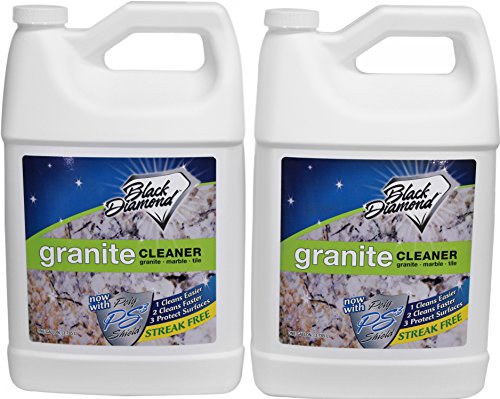 Black Diamond Stoneworks Granite Counter Cleaner: Natural Stone, Marble, Travertine, Tile, Quartz, Concrete Countertops & Antiques 2 Gallons. ()