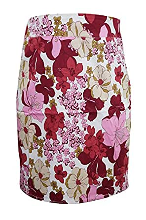 Bohemain Women Skirt Floral Hippy Gypsy Trim Rayon Gold Sequin Fashionista Summer Festive Skirts M
