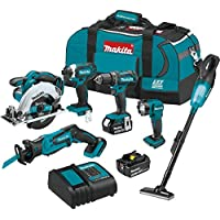 Makita XT614SX1 18V LXT Lithium-Ion Cordless 6-Pieces Combo Kit