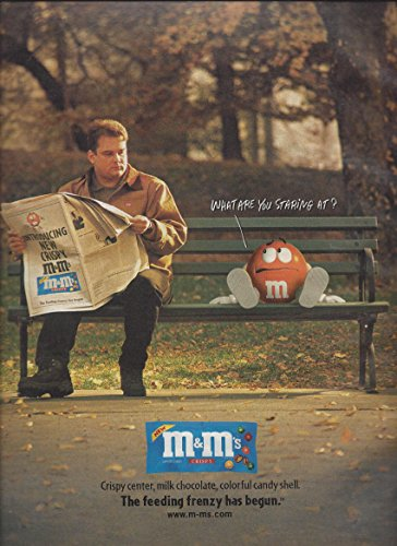 MAGAZINE ADVERTISEMENT For 1999 M&M Crispy Candy Park Bench ()