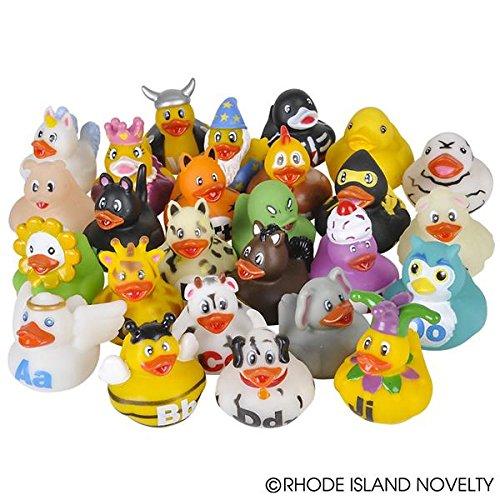 26 Piece by Rhode Island Novelty Rhode Island Novelty 2 Alphabet Rubber Ducks