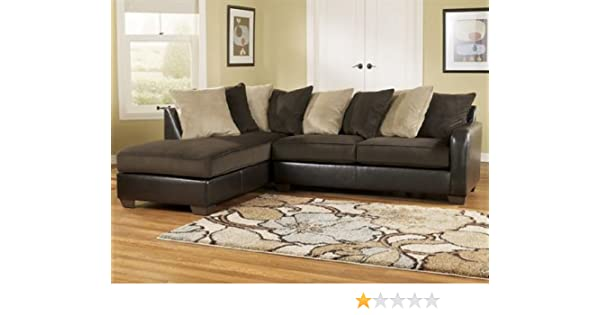 amazon com gemini chocolate contemporary chaise sectional by