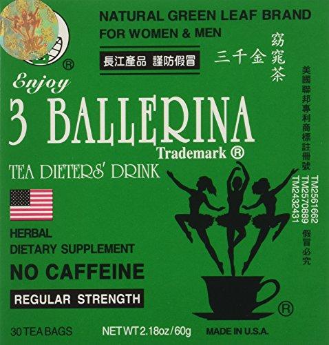 Women 2.18 oz 30 Tea Bags (Pack of 6) (3 Ballerina)