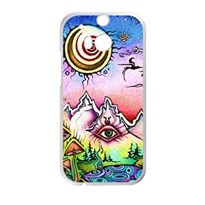 Canting_Good Funny trippy sun and moon Custom Case Shell Skin for HTC One M8 (Laser Technology)