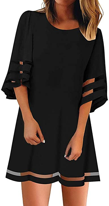 Hengshikeji/_Women Dress Party Skirt V-Neck Dress Pleated Strap Dress Elegant Mini Dress with Pockets