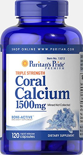 Puritan's Pride Triple Strength Coral Calcium 1500 mg-120 Capsules