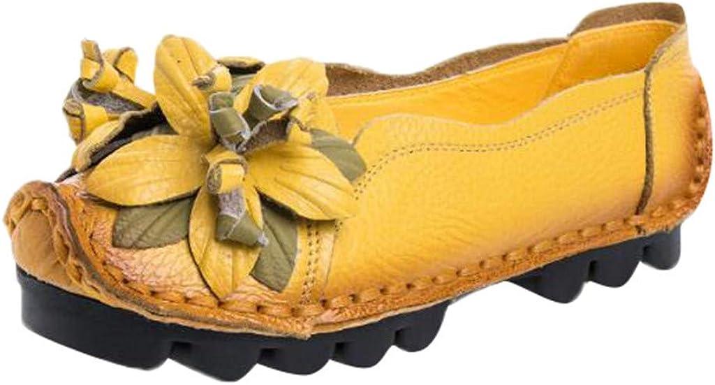 Mocassins - Zapatos de Mujer de Piel con Flores, para otoño o ...