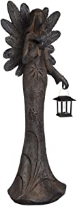 New Creative Floral Angel Garden Statue with Solar Lantern