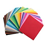 Life Glow DIY Polyester Stiff Felt Fabric Squares Sheets Assorted Colors 6x6 inch for Crafts, 1mm Thick 40Pcs