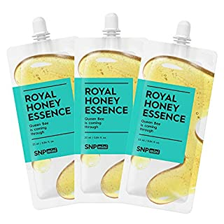 SNP mini - Royal Honey Essence - Skin & Face Nourishment & Moisturization - Spout Pouch Travel Design - 25ml per Pack - 3 Pack - Best Gift Idea for Mom, Girlfriend, Wife, Her, Women