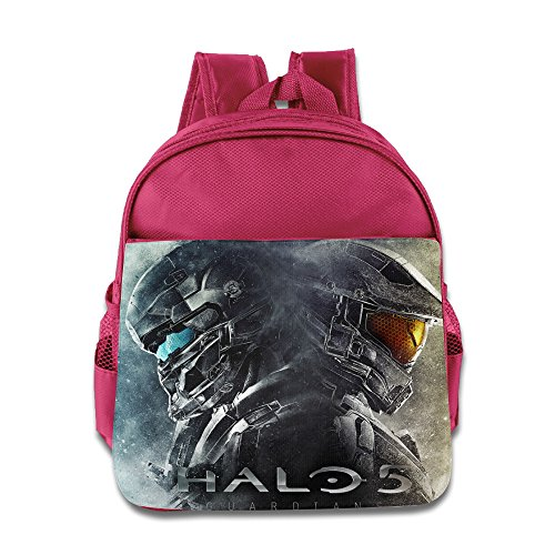 XJBD Custom Cool Halo 5 Guardians Teenager School Bagpack Bag For 1-6 Years Old Pink