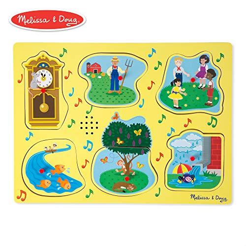 Melissa & Doug Nursery Rhymes 1 Sound Puzzle (6 Piece)