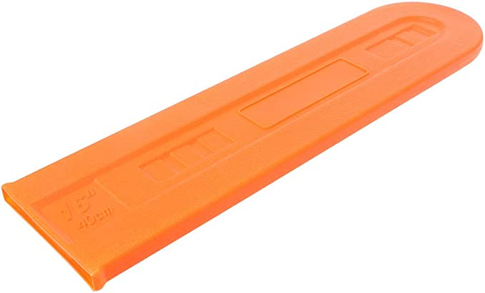 Yintiod 40,64 cm naranja de la barra de la motosierra de la guía de la placa protectora de la cadena de la caja para suministros agrícolas accesorios