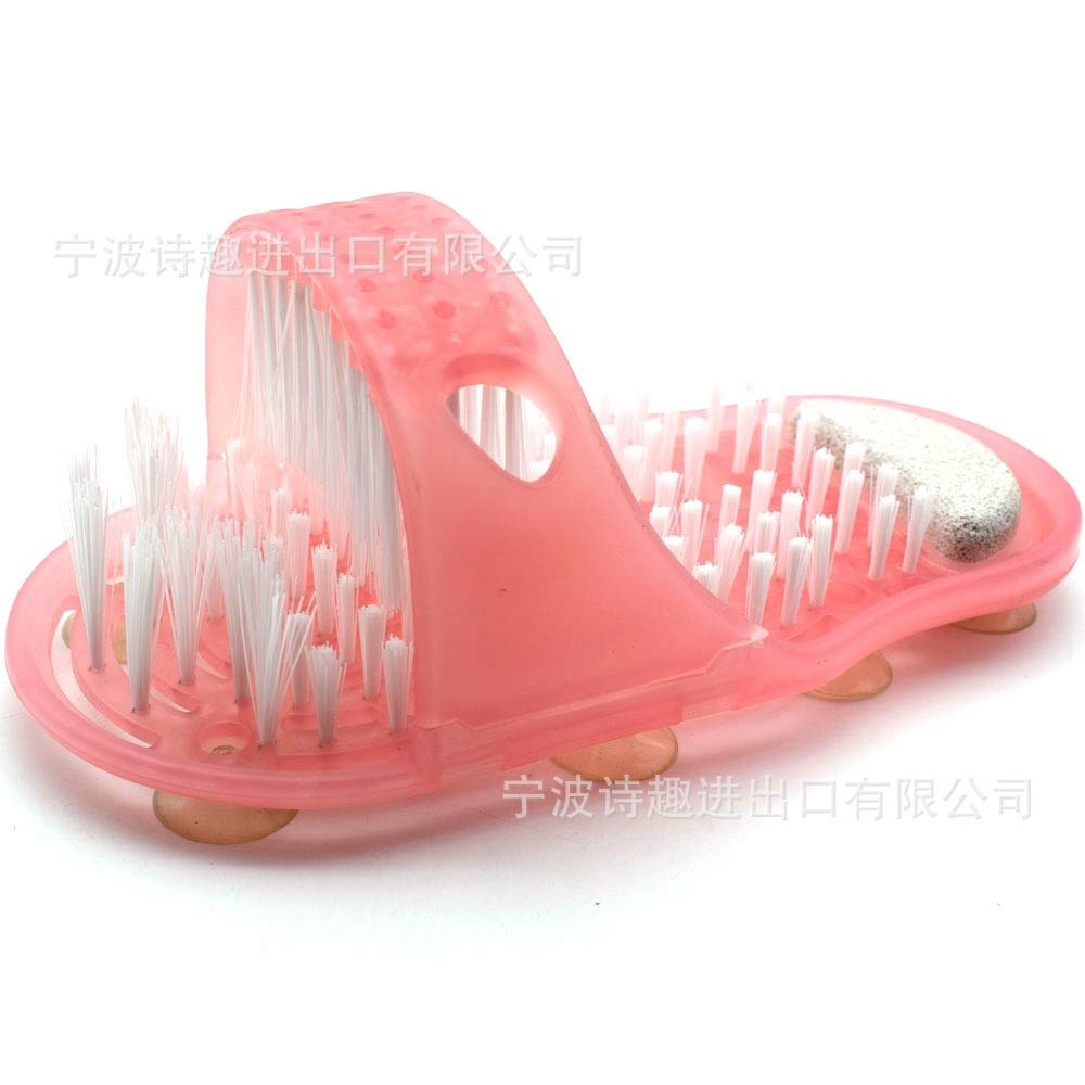 1PC Feet Foot Bath Shower Brush Spa Washer Cleaner Scrubber Massager Clean Exfoliate Brush Slippers (with colr Box) WEIHUIMEI