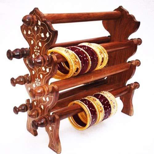 (NYGT Wooden Bangle Stand, Bracelet Holder, Bangle Organizer, Jewelry Holder, Bangle Holder, Brown Color)