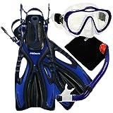 4570, bu, lxl, PROMATE Junior Snorkeling Scuba Diving Mask...