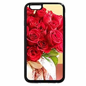 iPhone 6S / iPhone 6 Case (Black) Red Rose Bouquet