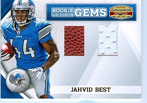 2010 Gridiron Gear Authentic Jahvid Best Rookie Dual Game Worn Jersey Card