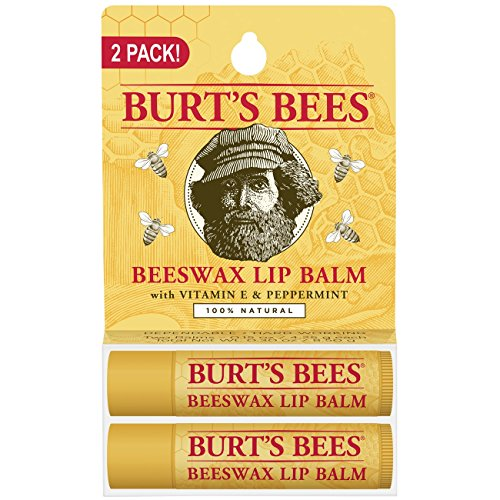 Burt's Bees 100% Natural Moisturizing Lip Balm, Original Beeswax with Vitamin E & Peppermint Oil –  2 Tubes