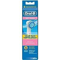 Oral-B Soft Clean Borsthuvud, 6 st, Vit/Blå