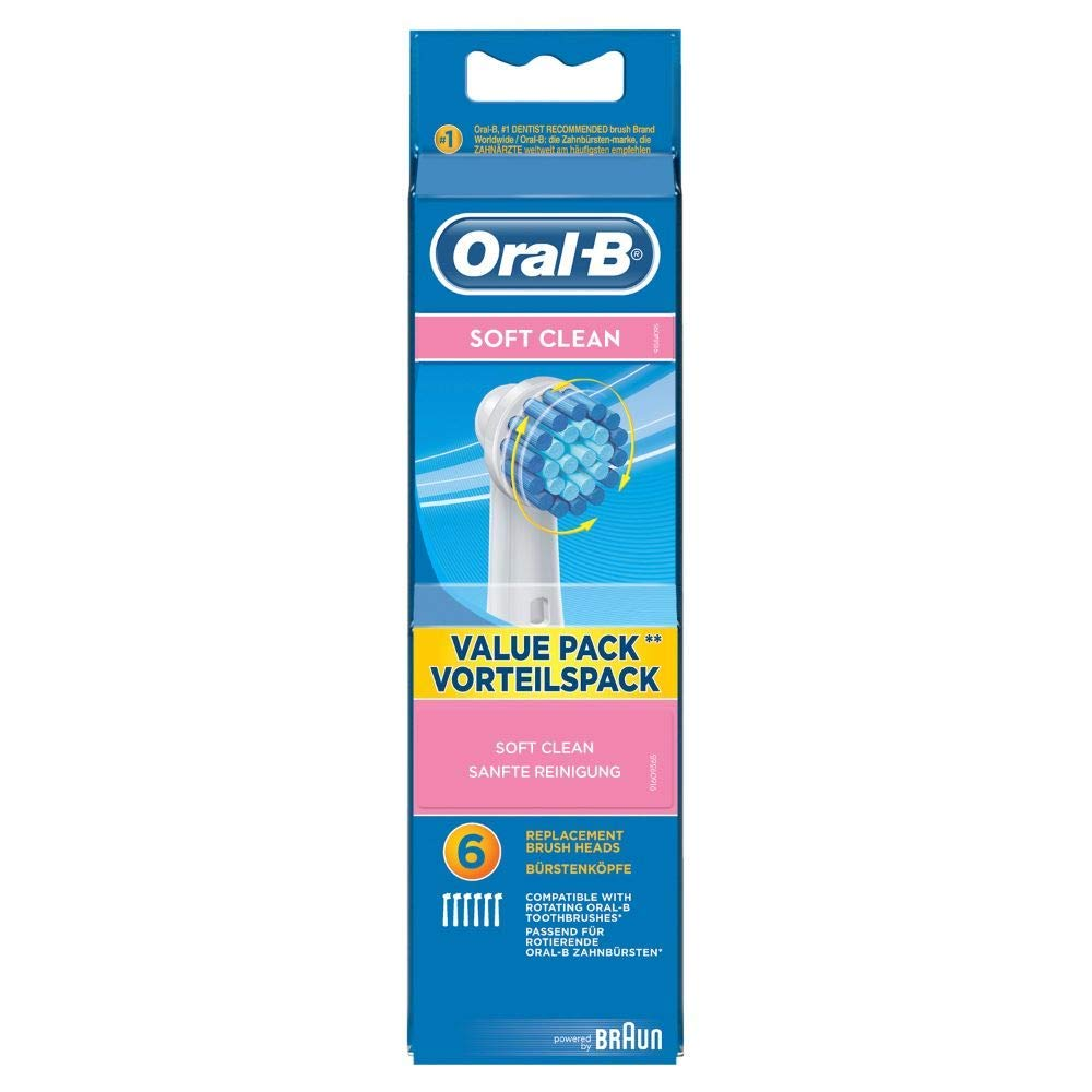 Oral-B Toothbrush Heads soft clean, 6 Pieces