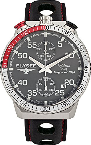 ELYSEE Men's 80516MMG Graf Berghe von Trips Analog Display Quartz Black Watch