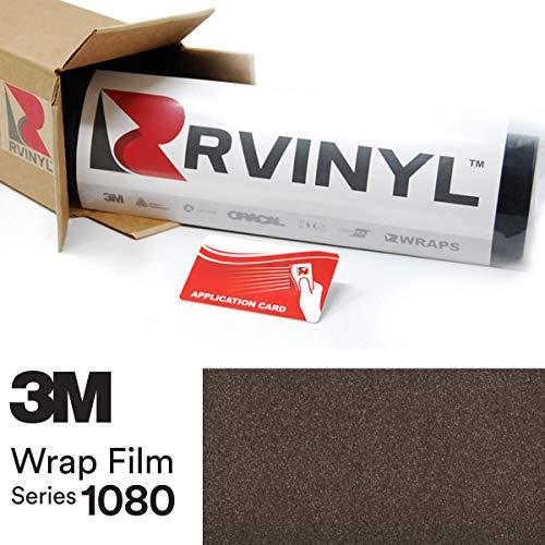 3M 1080 G211 Gloss Charcoal Metallic 5ft x 23ft W/Application Card Vinyl Vehicle Car Wrap Film Sheet Roll ()