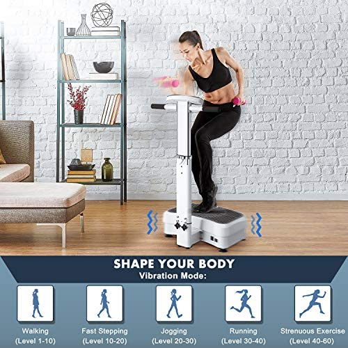 MaxKare 【Limited Promotion】 Vibration Plate Exercise Machine Vibration Platform Machine with Adjustable Handle 2 Motor & Loop Bands for Weight Loss,Toning &Fitness Indoor/Outdoor Exercise Workout 2