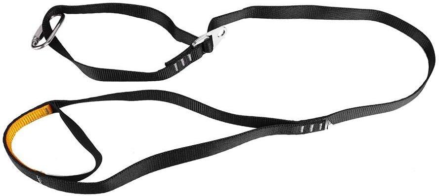Alomejor Eslinga Ascender Eslinga Cuerda Dispositivo de Levantamiento Seguro Ajustable al Aire Libre Pedal de Escalada Sling Ascender para Equipo de montañismo en Exteriores