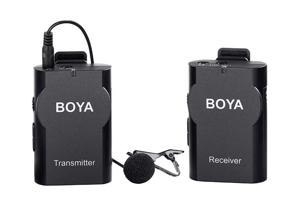 BOYA by WM4 Mark II ユニバーサル ワイヤレス ラバリアマイク デジタル一眼レフカメラ カムコーダー スマートフォン ボイスレコーダー   B07QZVLCR7