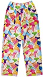 iscream Big Girls Fun Print Plush Pants - Colorful Cupcakes, Medium