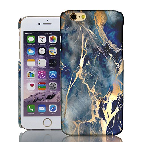 iPhone 6 6S Case, Levanpro Marble Pattern Hard Protective Case for iPhone 6 6S (A)