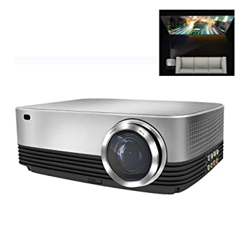 GJZhuan Proyector Casero HD, LED Sin Pantalla 1080p Proyector ...
