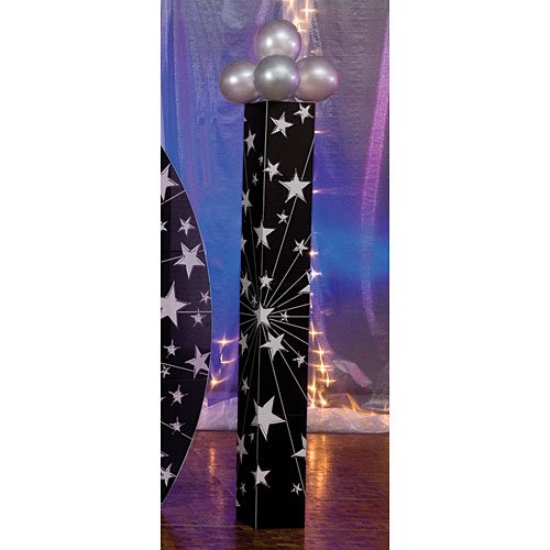 Shindigz Starburst Column Photo Booth Prop Background Backdrop Party Decoration Scene Setter ()