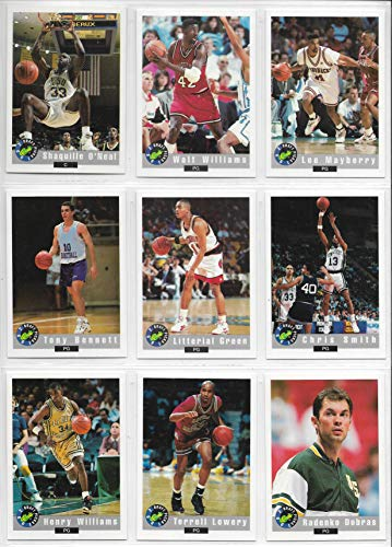 1992 Classic Draft Picks Basketball Complete 100 Card Set Shaquille O'Neal