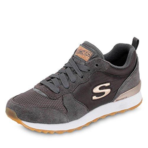 Colore Tessuto in Camoscio e Originals Scarpe Grau Sportive Skechers Donna Grigio per 08YX0qz